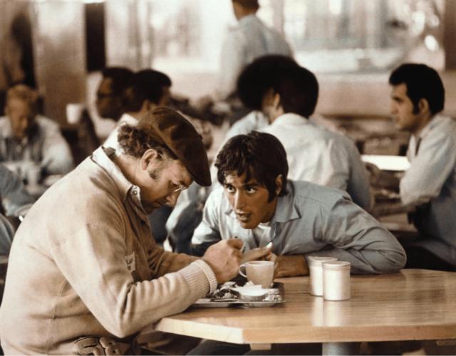 Al Pacino has plenty to say to Gene Hackman