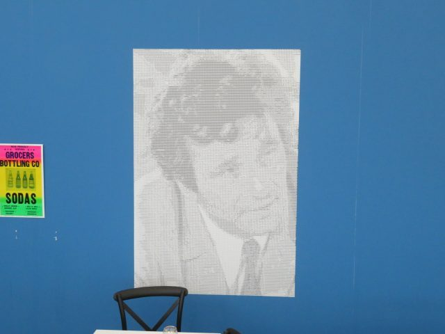 Columbo is on the case in food court (photo by twi-ny/mdr)