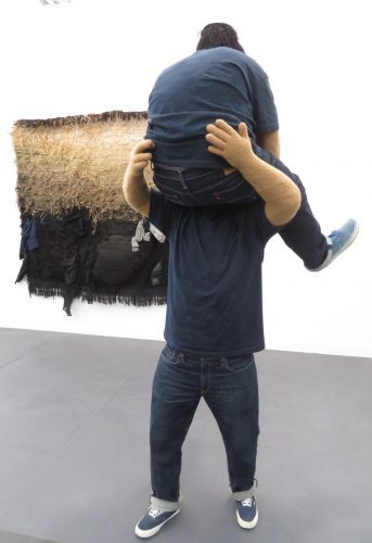 Josep Grau-Garriga, Del dia í de le nit, wool, hemp, synthetic fiber, rope, clothes, 1985, Salon 94 (photo by twi-ny/mdr)