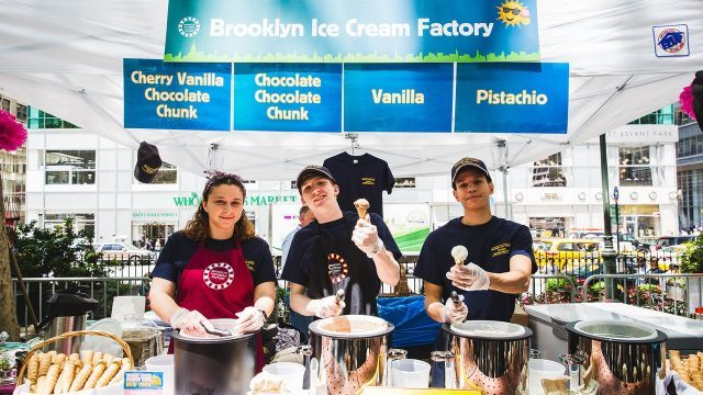 Brooklyn Ice Cream Factory returns to the Scooper Bowl in Bryant Park this weekend (photo by Angelito Jusay)