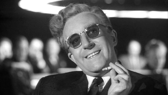 Peter Sellers has some grand plans for the end of the world as Dr. Strangelove in classic Kubrick cold war comedy