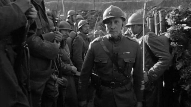 Kirk Douglas discovers that war is indeed hell in Paths of Glory