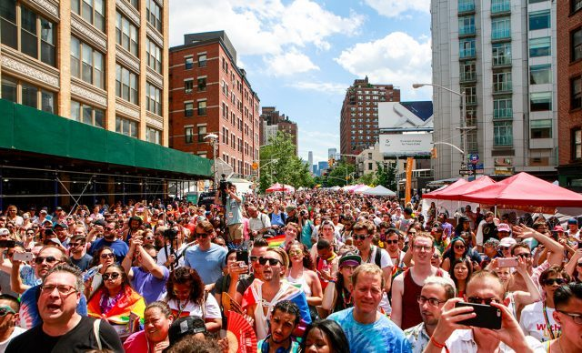 PrideFest street fair immediately follows the March