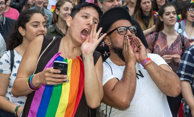 Participants make their voices heard at the Rally and other Gay Pride events