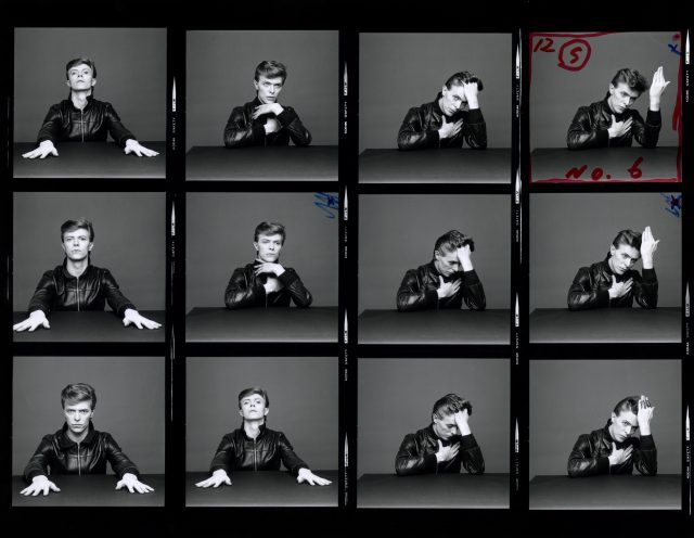 Heroes contact sheet, 1977 (photograph by Masayoshi Sukita. © Sukita/The David Bowie Archive)
