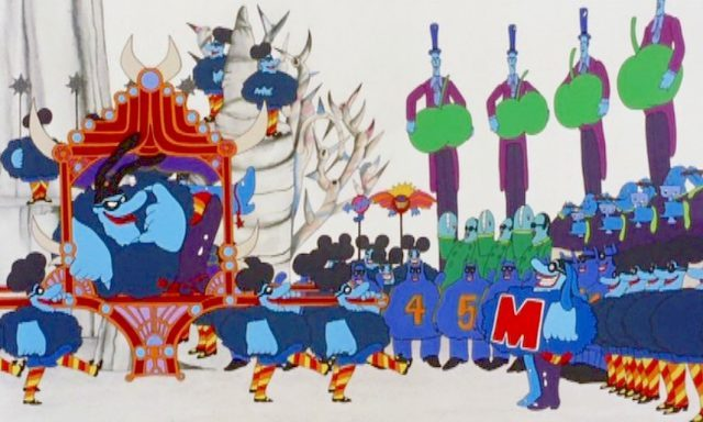 The Blue Meanies prepare to invade Pepperland in Yellow Submarine