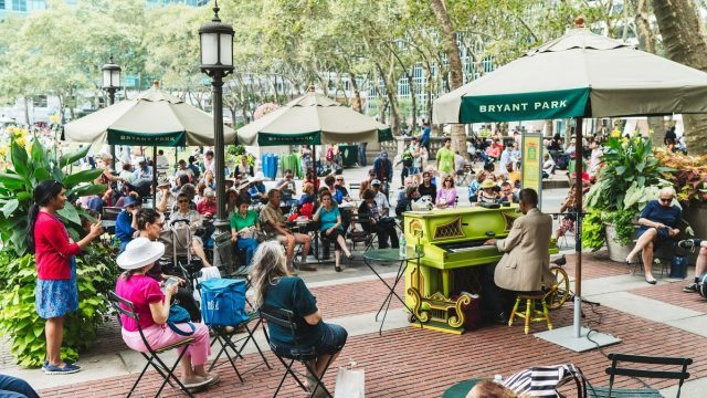 Piano in Bryant Park continues weekdays at 12:30