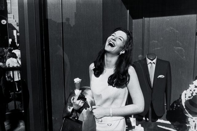 New York, 1968 [laughing woman with ice cream] Photographs by Garry Winogrand, Collection Center for Creative Photography, The University of Arizona. © The Estate of Garry Winogrand, courtesy of Fraenkel Gallery, San Francisco.