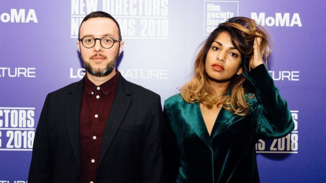 Steve Loveridge and M.I.A. at New York premiere of documentary at Film Society of Lincoln Center (photo by Sean DiSerio)