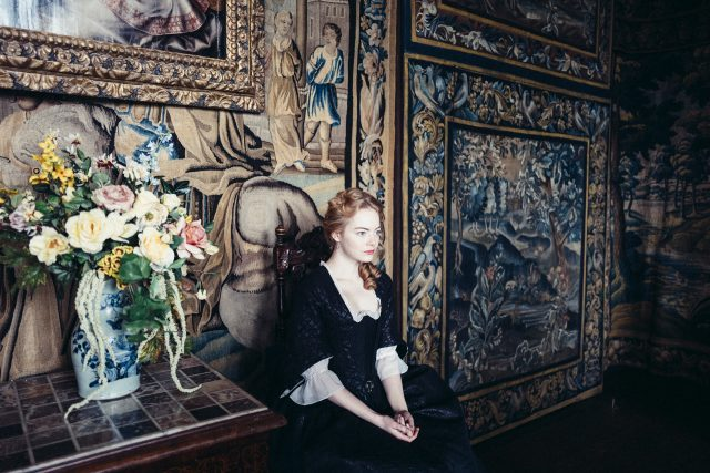 Emma Stone in the film THE FAVOURITE. (photo by Yorgos Lanthimos. © 2018 Twentieth Century Fox Film Corporation All Rights Reserved)