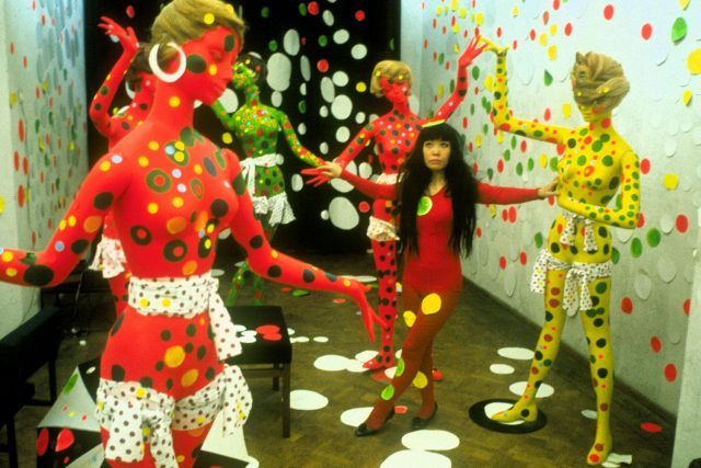 Artist Yayoi Kusama in the Orez Gallery in the Hague, Netherlands (1965) in KUSAMA - INFINITY. Photo credit: Harrie Verstappen. Photo courtesy of Magnolia Pictures.