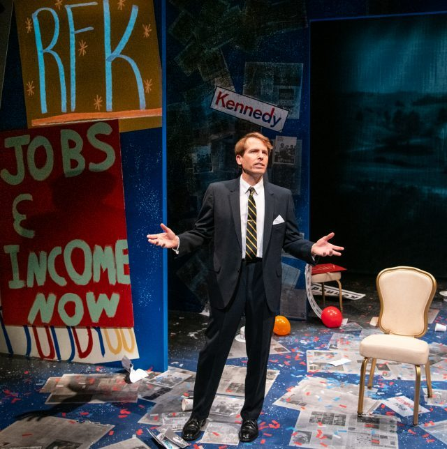 David Arrow plays Bobby Kennedy in one-man show he also wrote (photo by Russ Rowland)