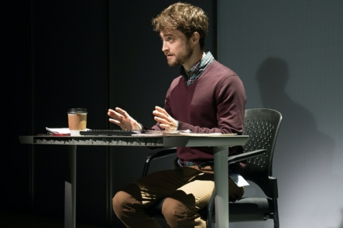 Daniel Radcliffe is a nerdy intern trying to do his job in The Lifespan of a Fact (photo by Peter Cunningham)