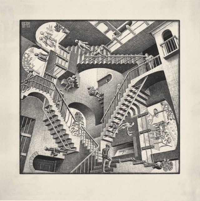 M. C. Escher Relativity Lithograph Private Collection, Usa All M.C. Escher Works @ 2018 The M.C. Escher Company. All rights reserved www.mcescher.com