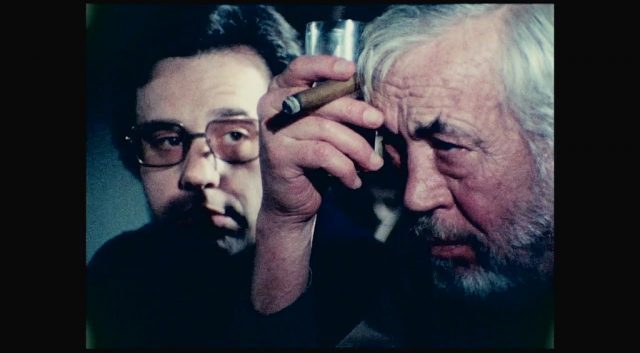 John Huston stars as a filmmaker on the last day of his life in The Other Side of the Wind