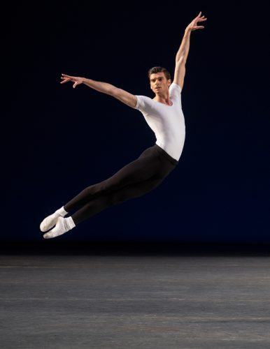 Peter Walker in George Balanchine's Agon. Photo: Erin Baiano
