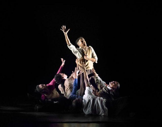 Alvin Ailey American Dance Theater in Rennie Harris' Lazarus. Photo by Paul Kolnik