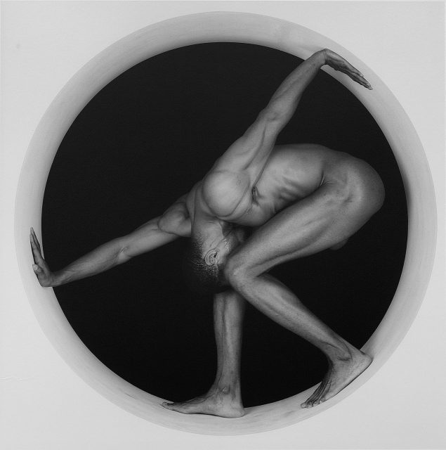 Robert Mapplethorpe (1946-1989) Thomas, 1987 Gelatin silver print A.P. 1/2 image: 19 1/4 x 19 3/16 inches (48.9 x 48.7 cm); sheet: 23 3/4 x 19 13/16 inches (60.3 x 50.3 cm) Solomon R. Guggenheim Museum, New York Gift, The Robert Mapplethorpe Foundation, 1993 93.4304