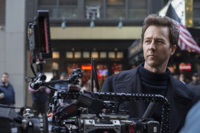 """Actor/Writer/Director/Producer EDWARD NORTON on the set of Warner Bros. Pictures' drama """"MOTHERLESS BROOKLYN,"""" a Warner Bros. Pictures release. (photo by Glen Wilson)"""