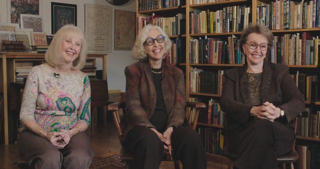 Sisters Adina Cohen, Judith Lowry and Naomi Hample, owners of the Argosy Book Store, at the store on East 59th Street in Manhattan