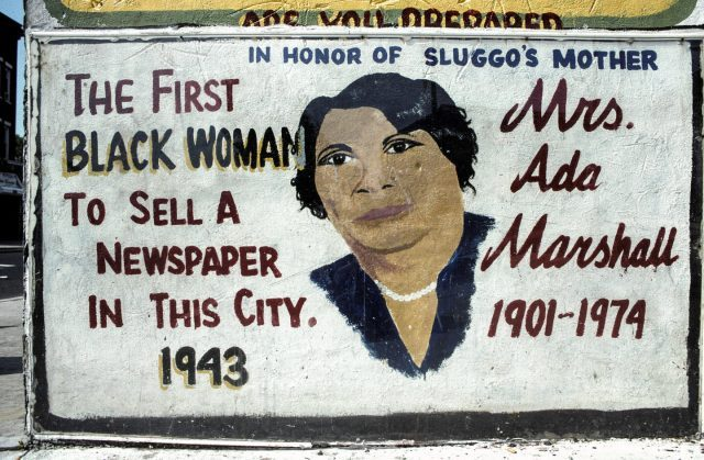 Mrs. Ada Marshall, Martin Luther King Drive at Bostwick, Jersey City, 2004.
