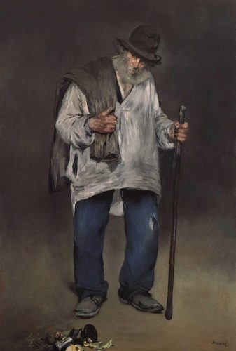 The Ragpicker, ca. 1865–71, possibly reworked 1876–77 Oil on canvas 76 3/4 × 51 1/2 in. (194.9 × 130.8 cm) The Norton Simon Foundation, Pasadena, California