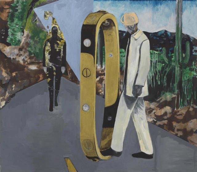 Noah Davis, Imaginary Enemy, oil on wood panel, 2009 (courtesy David Zwirner)