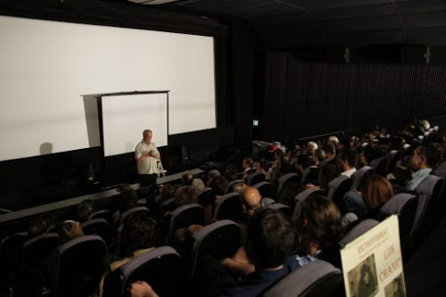 Paul Dooley gives a talk about Buter Keaton at Retroformat Los Angeles (photo courtesy Retroformat)