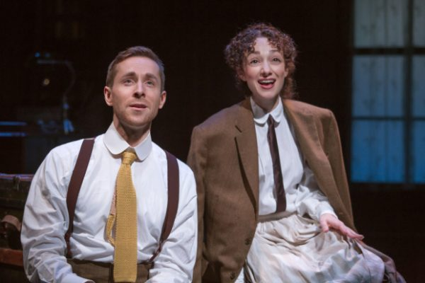 Adam Halpin and Megan McGinnis in Daddy Long Legs, directed by John Caird, at the Davenport Theatre. (© Jeremy Daniel)